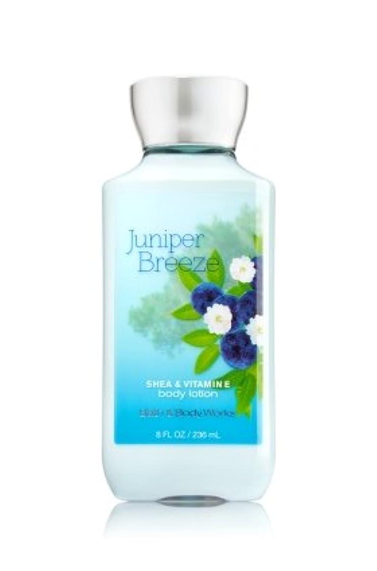 牽引かび臭いヒューマニスティック【Bath&Body Works/バス&ボディワークス】 ボディローション ジュニパーブリーズ Body Lotion Juniper Breeze 8 fl oz / 236 mL [並行輸入品]