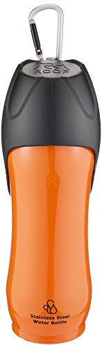 ルークラン ペット用水筒 ステンレスボトル オレンジ L(750ml)