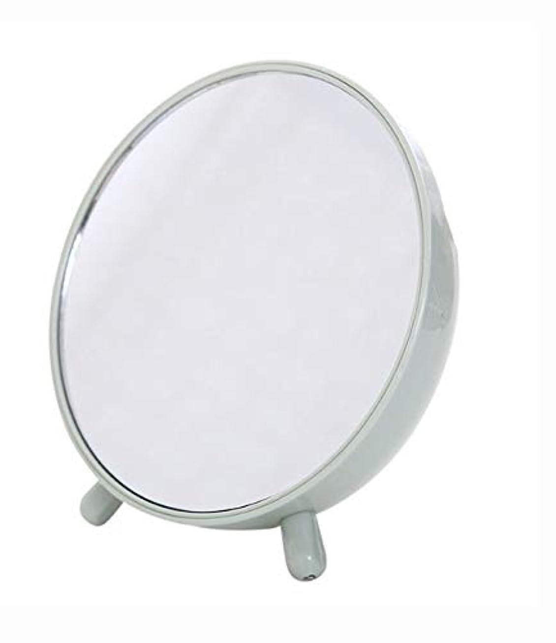 吹きさらし壊れた敏感な化粧鏡、収納箱の化粧品のギフトが付いている緑の簡単な円形のテーブルの化粧鏡