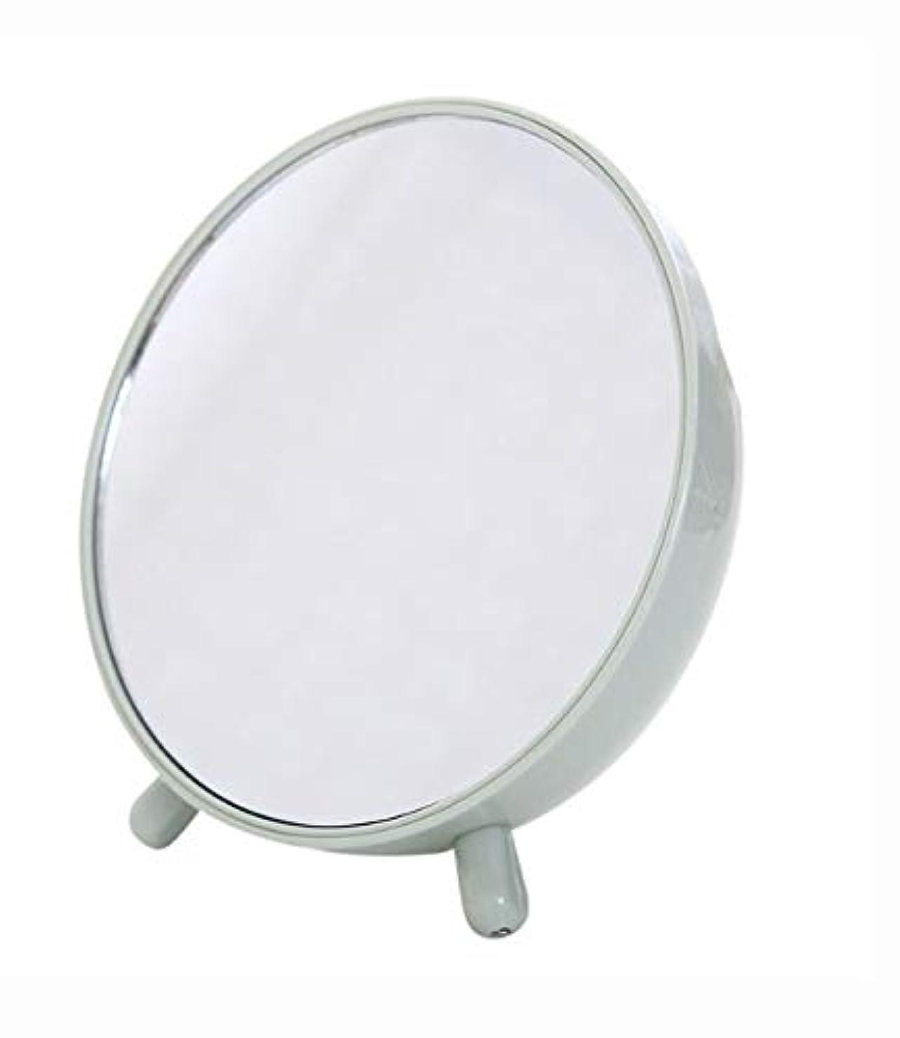 平均バーチャル救援化粧鏡、収納箱の化粧品のギフトが付いている緑の簡単な円形のテーブルの化粧鏡