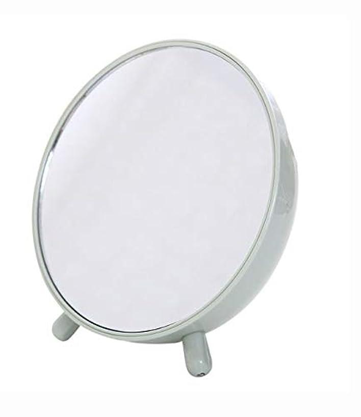 化粧鏡、収納箱の化粧品のギフトが付いている緑の簡単な円形のテーブルの化粧鏡