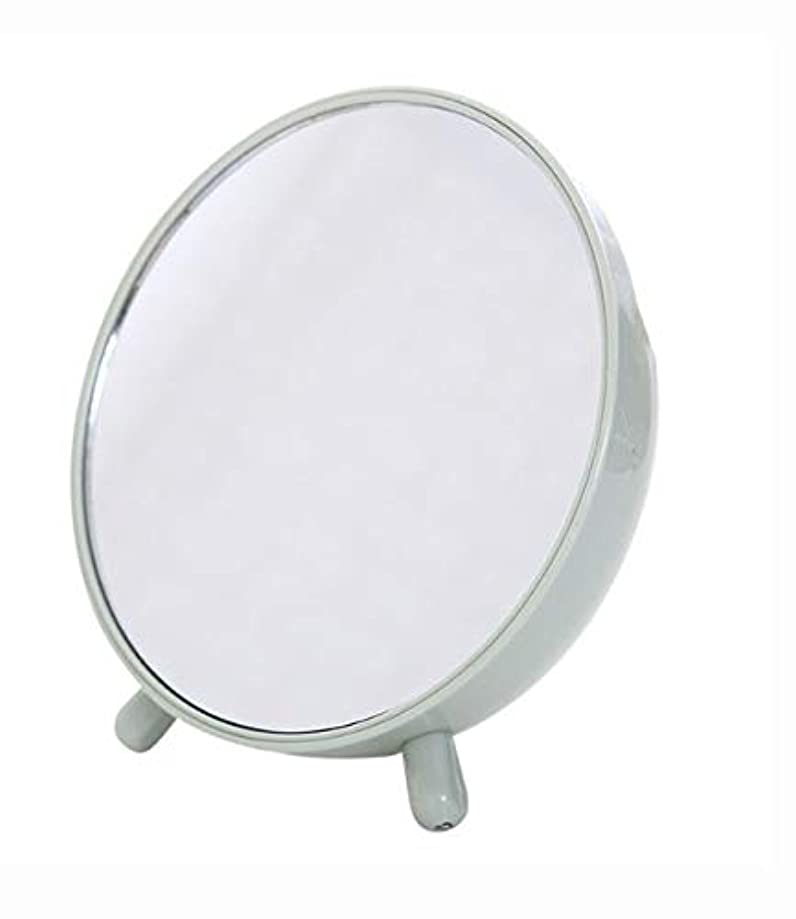 かんたん義務説得化粧鏡、収納箱の化粧品のギフトが付いている緑の簡単な円形のテーブルの化粧鏡