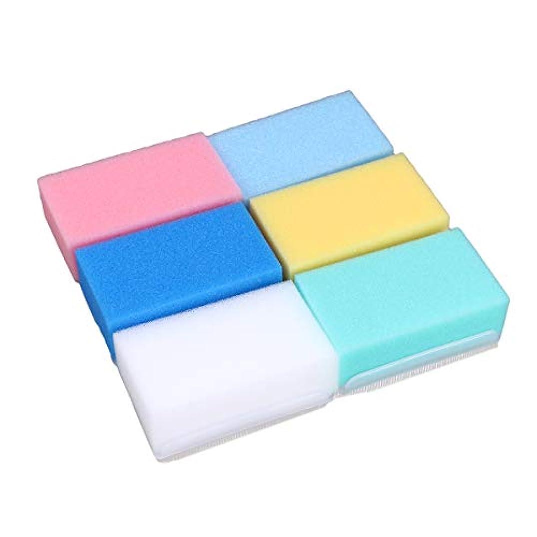 血色の良い差別的不利HEALIFTY 6本入浴ボディウォッシュブラシ柔らかい触覚感覚統合トレーニング乳児新生児のためのバスブラシバススポンジ(6色)