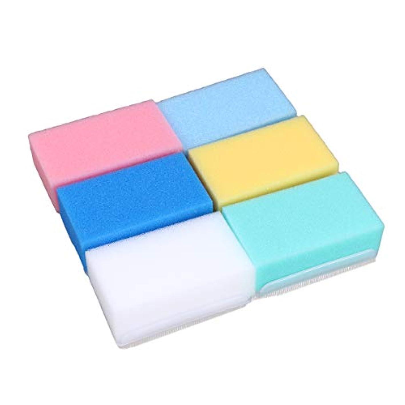 ゲートウェイ速報マナーHEALIFTY 6本入浴ボディウォッシュブラシ柔らかい触覚感覚統合トレーニング乳児新生児のためのバスブラシバススポンジ(6色)