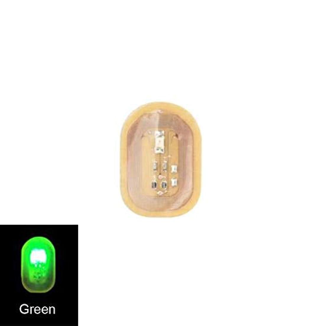 考え教師の日恐ろしいACHICOO ネイルステッカー NFC ネイルアート ヒント DIYステッカー 電話 LEDライト フラッシュパーティー デコレーション ネイルチップ 緑色の光