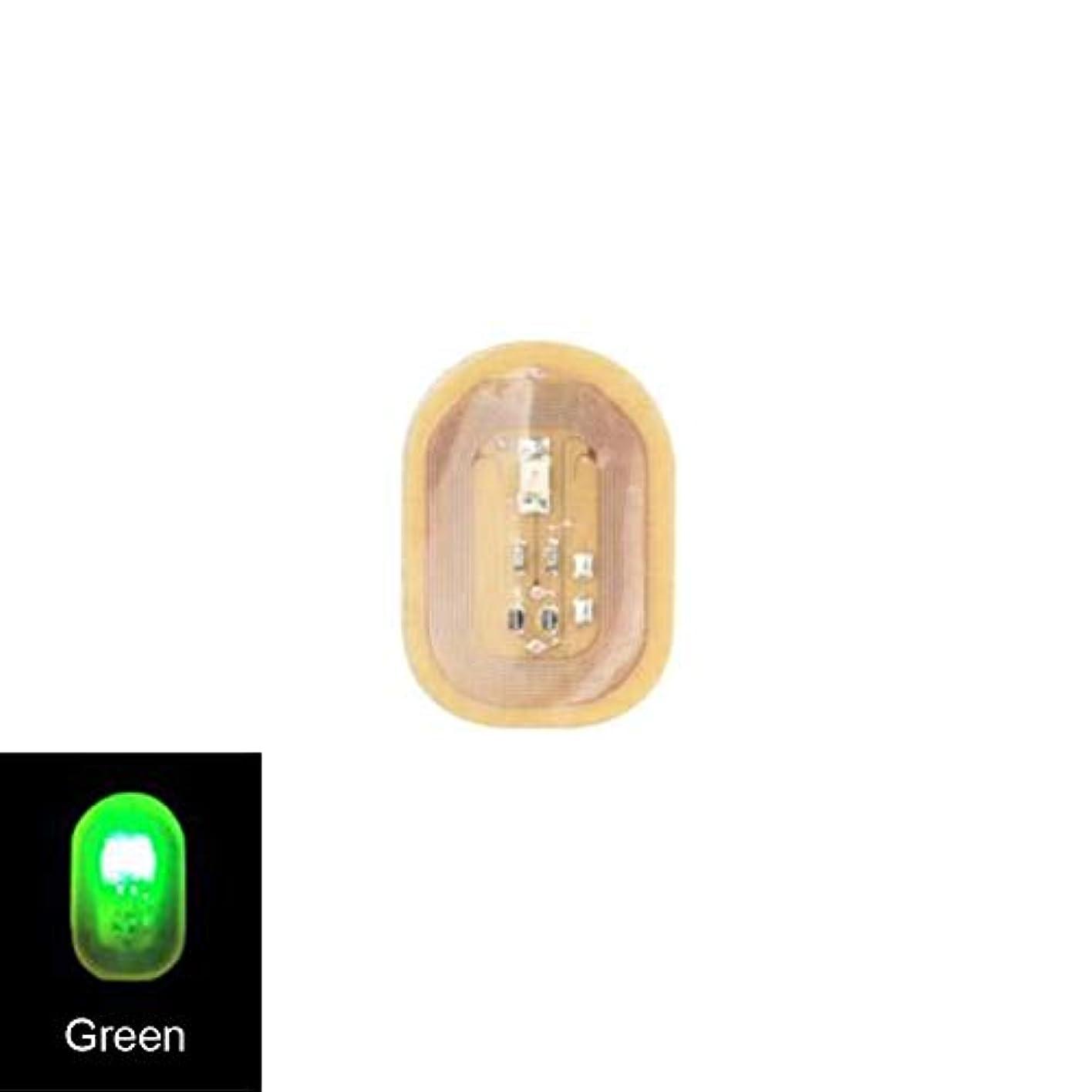 定期的観光くすぐったいACHICOO ネイルステッカー NFC ネイルアート ヒント DIYステッカー 電話 LEDライト フラッシュパーティー デコレーション ネイルチップ 緑色の光
