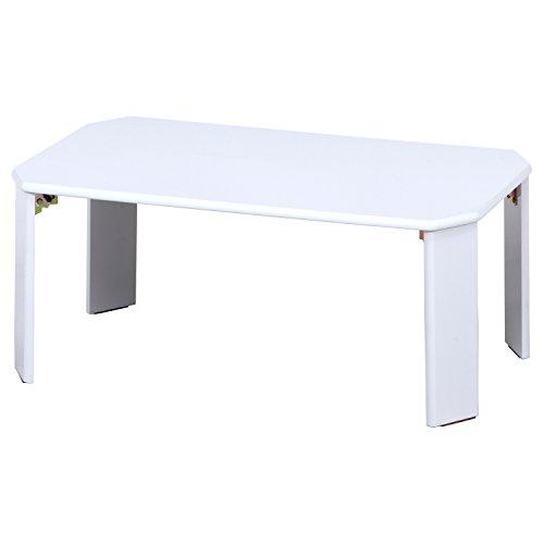 不二貿易 UVローテーブル ルーチェ 幅75cm ホワイト 12845