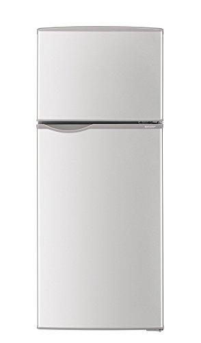 シャープ 冷蔵庫 小型 2ドア 118L シルバー SJ-H...