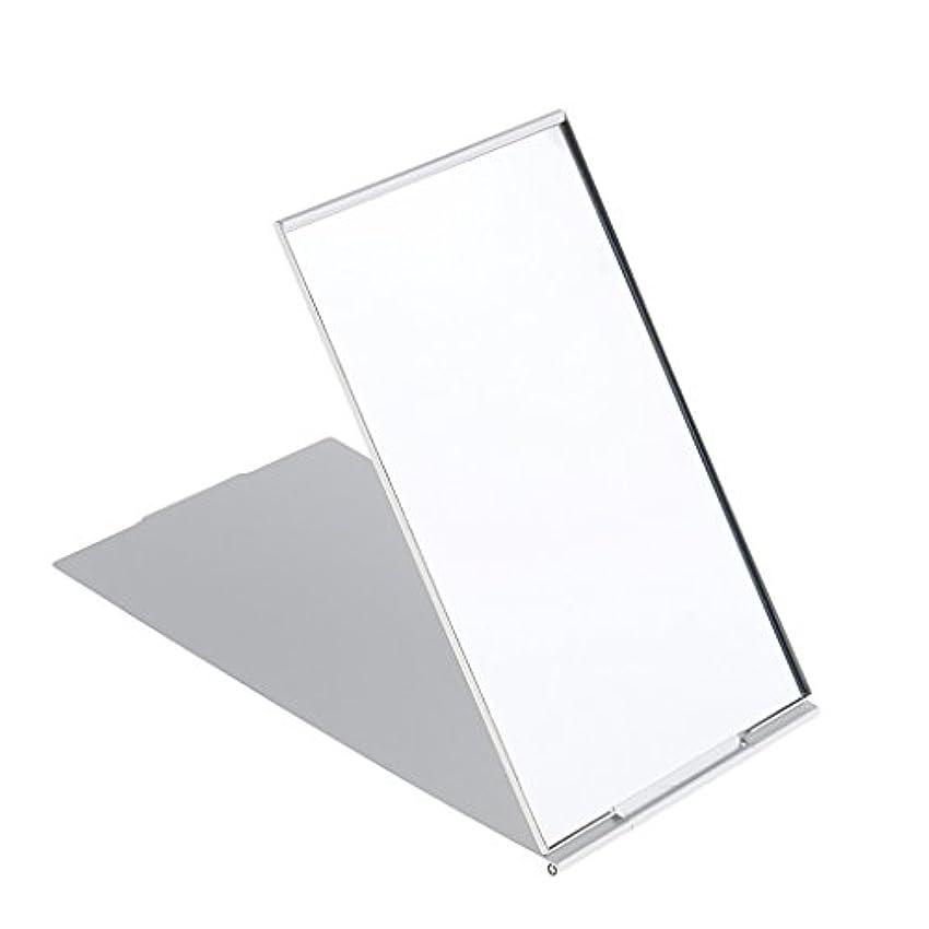 道路を作るプロセスまもなく実現可能メイクミラー 軽量 折りたたみ ポケット コンパクトミラー トラベル 化粧鏡 全3サイズ - #2