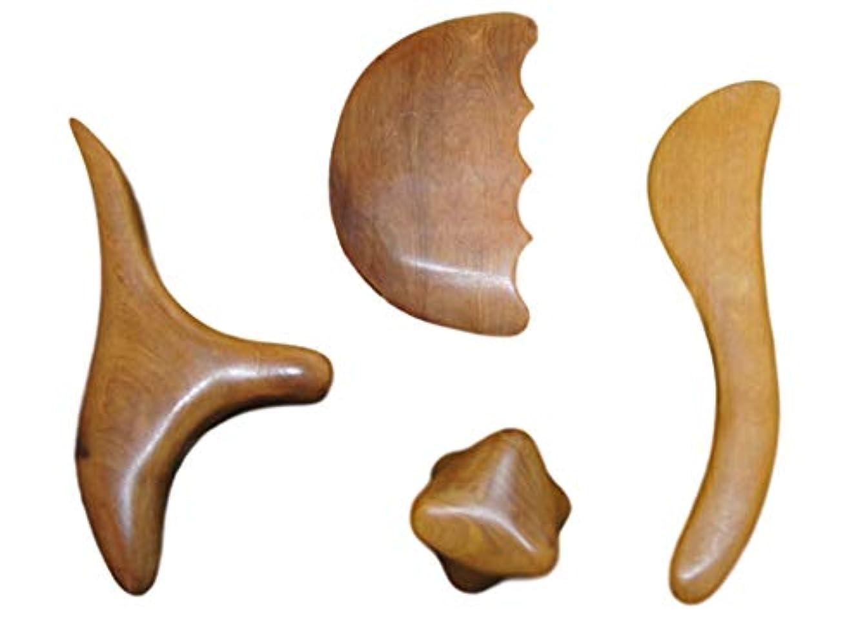 櫛杖達成Indivi R ツボ押し棒 4種類をセットで 持ちやすい 収納袋付き 押しやすい 天然木 マッサージ棒 按摩棒 10000セット完売記念 特価