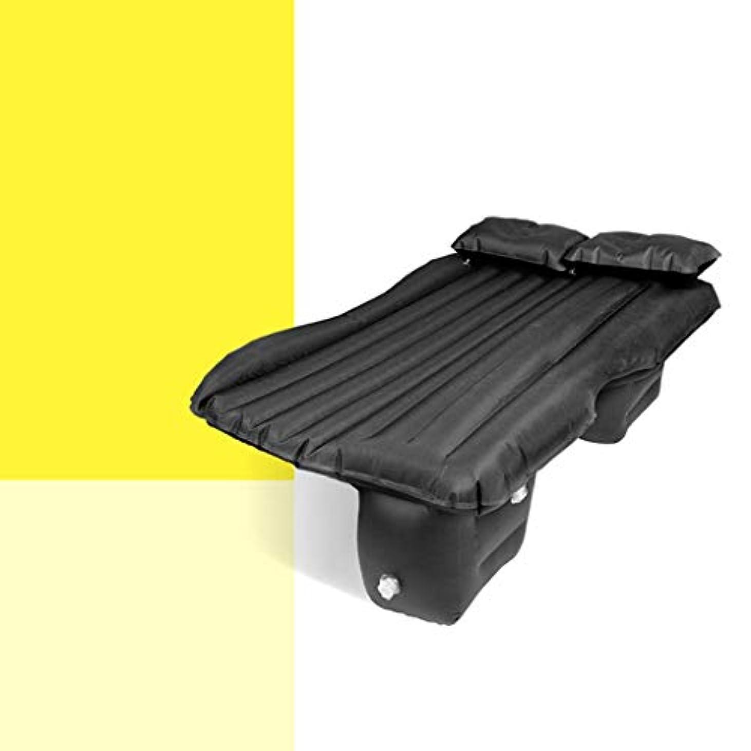 彫るカッター海SYLOZ 車のインフレータブルベッドインフレータブルスリーピングパッドキャンプマットレスライトコンパクトエアクッションポータブル折りたたみエアベッド (Color : Black)