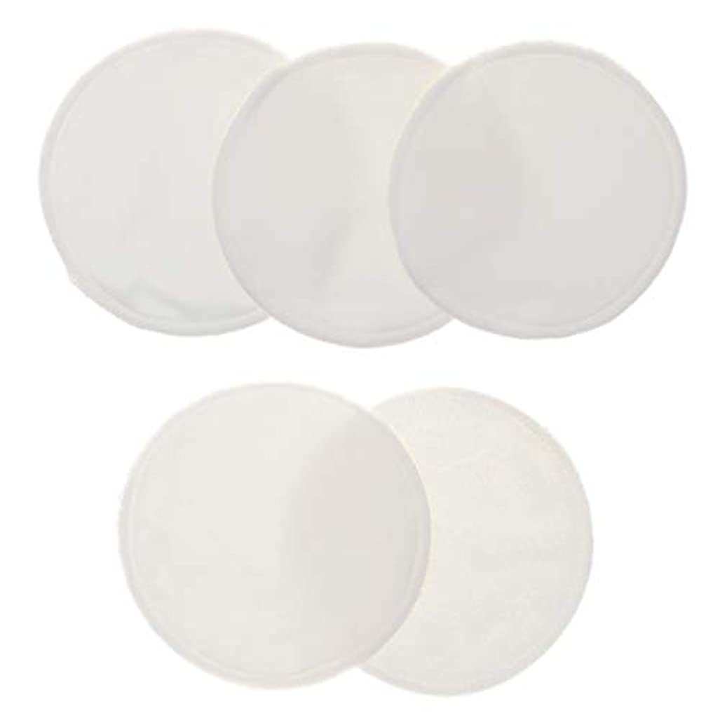 パラシュートエゴマニアリーズ5個 クレンジングシート 胸パッド 化粧用 竹繊維 円形 12cm 洗える 再使用可能 耐久性 全5色 - 白