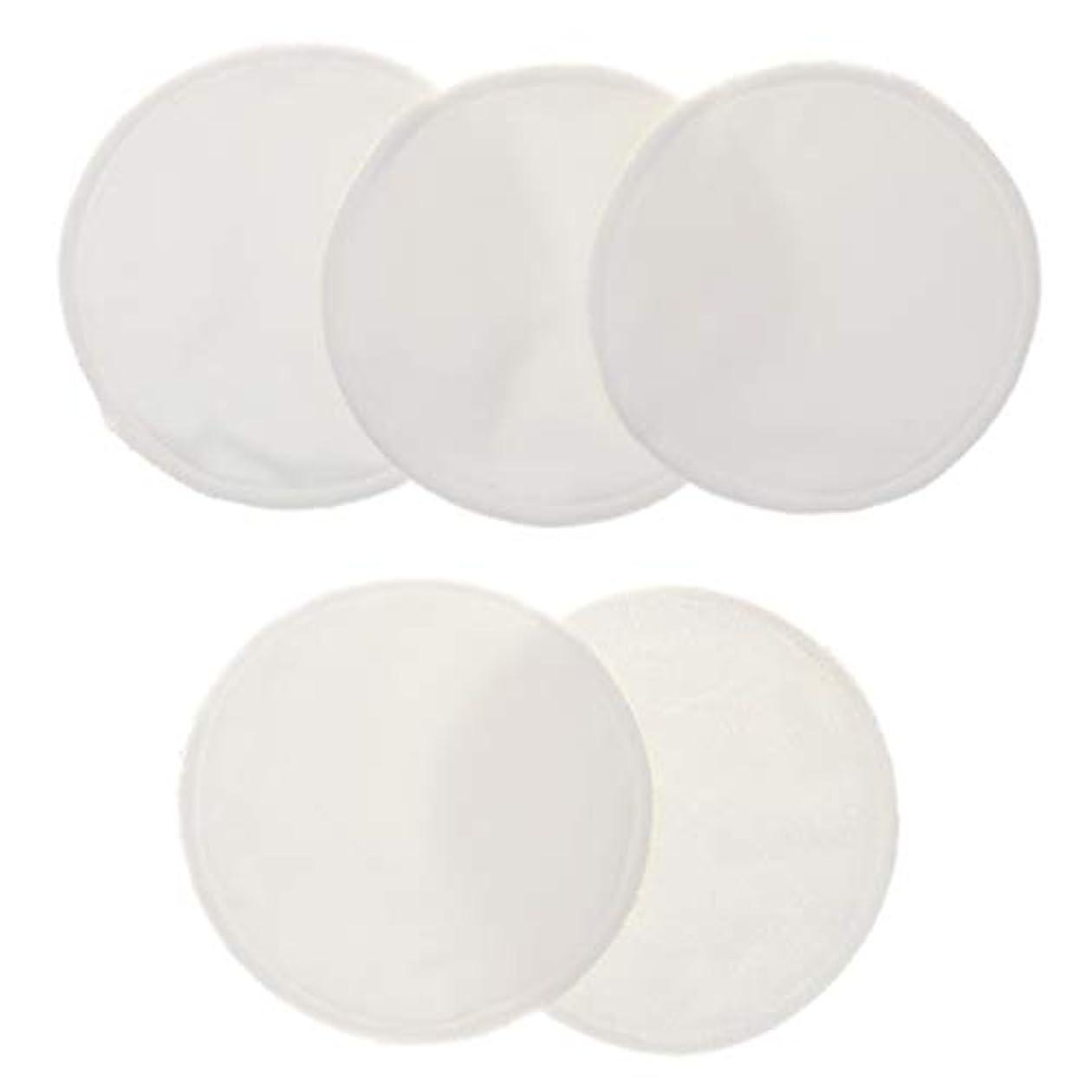散歩交換可能起点CUTICATE 5個 クレンジングシート 胸パッド 化粧用 竹繊維 円形 12cm 洗える 再使用可能 耐久性 全5色 - 白