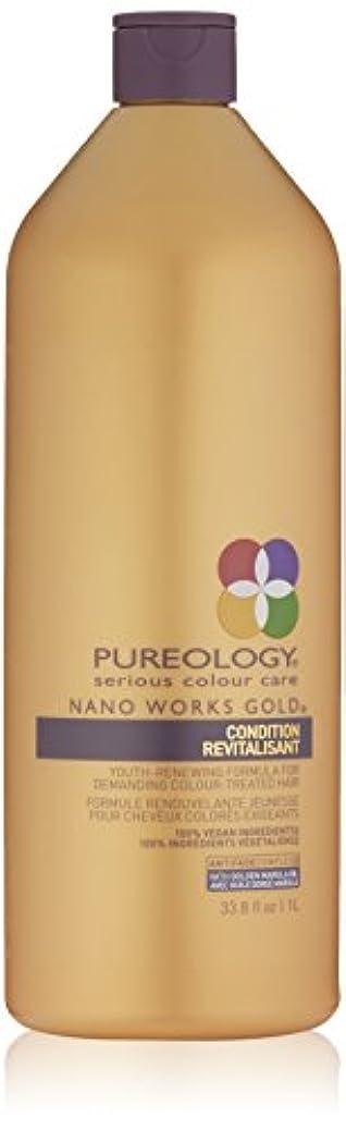 目立つ属する舗装するPureology ナノワークスゴールドコンディショナーRevitalisant、33.8液量オンス 33.8オンス