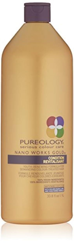 難しいオーガニックみがきますPureology ナノワークスゴールドコンディショナーRevitalisant、33.8液量オンス 33.8オンス