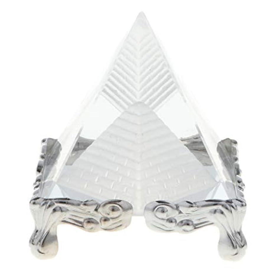 フルーツ慣れている隠すDYNWAVE 全3色 撮影の小道具 クリスタル 水晶 コレクション 文鎮 ピラミッド 誕生日 プレゼント - シルバーベース