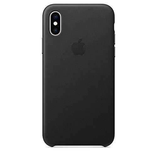 Apple iPhone XS レザーケース -  ブラック(アップル 純正品/メーカー型番:MRWM2FE/A)