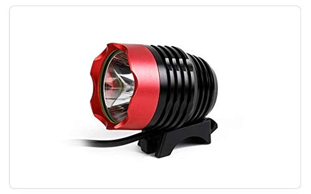 ペレグリネーション遊具シーフード自転車用ライト、無料テールライト付、自転車用ライト、工具なしで秒単位で取り付け可能、パワフルな自転車用ヘッドライト対応:山、子供、街頭、自転車、前後の照明(作業時間3時間) (Color : Red)
