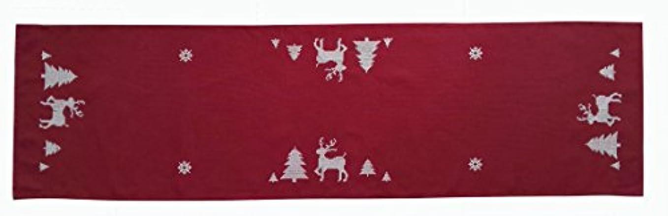 ジャーナリスト伝染性裁判官お部屋 の インテリア テーブル クロス シリーズ赤色クリスマス柄PB010 (38X135CM)テーブルランナー
