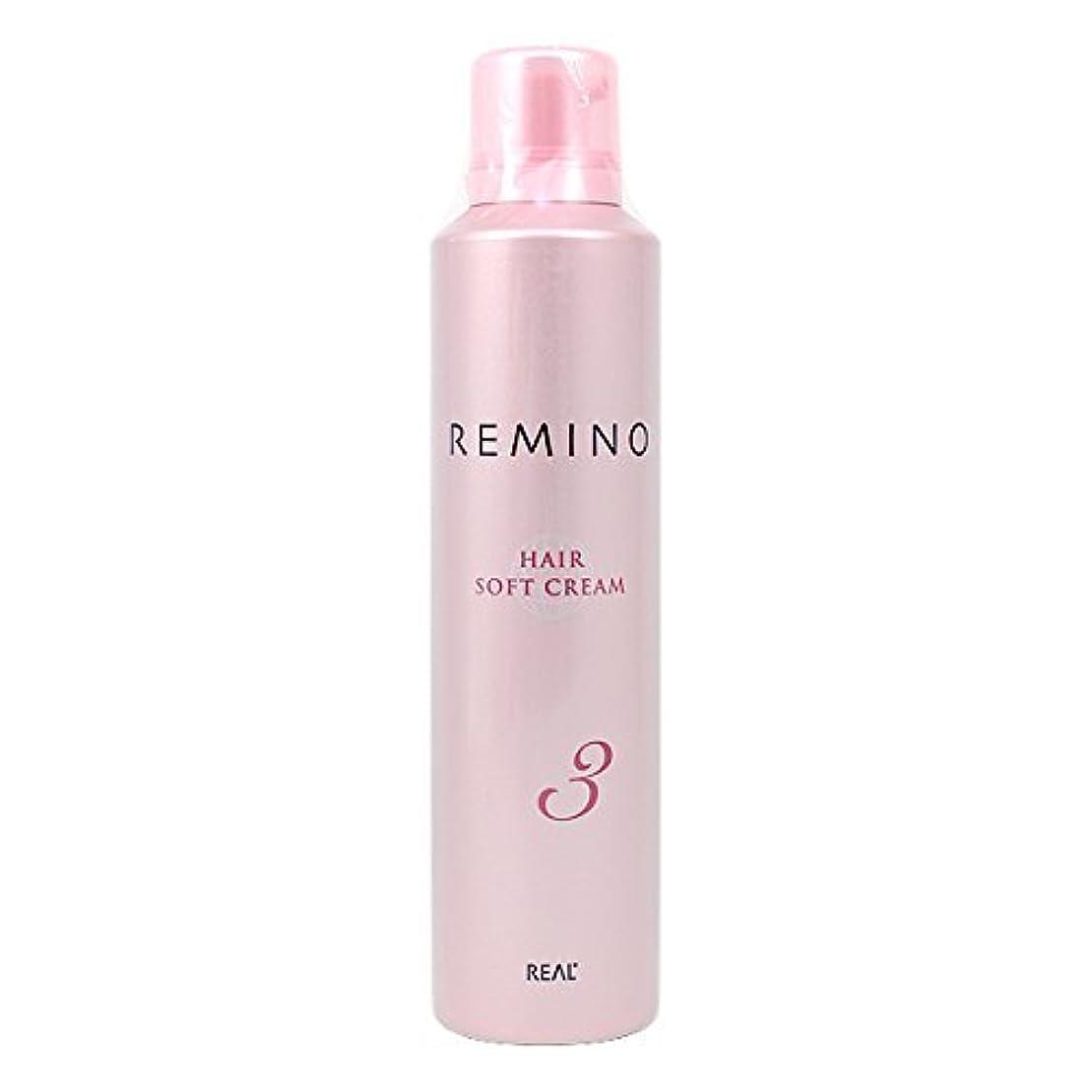 まとめる掃く情緒的リアル化学 レミノ ヘアソフトクリーム 3 240g