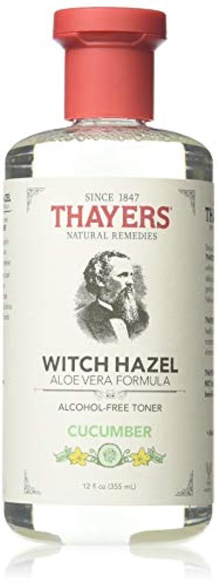 背骨テザー非常にx Thayers Witch Hazel with Aloe Vera Cucumber - 12 fl oz by Thayer's
