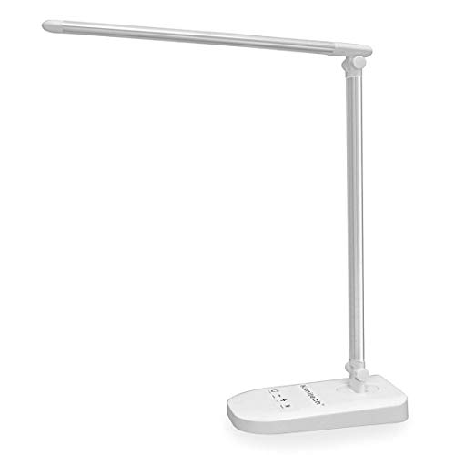 Kimitech デスクライト 卓上ライト 省エネ タッチセンサー USBポート付け 無段階調光 三段階調色 電気スタンド 寝室 読書 ベッド