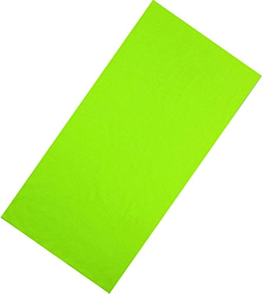 出力適性オーバーラン(ビグッド) Bigood ヘアバンド ネックウォーマー メンズ 帽子 アウトドア スポーツ 多機能チューブ バンダナ フェイスマスク バイク シンプル 黄緑