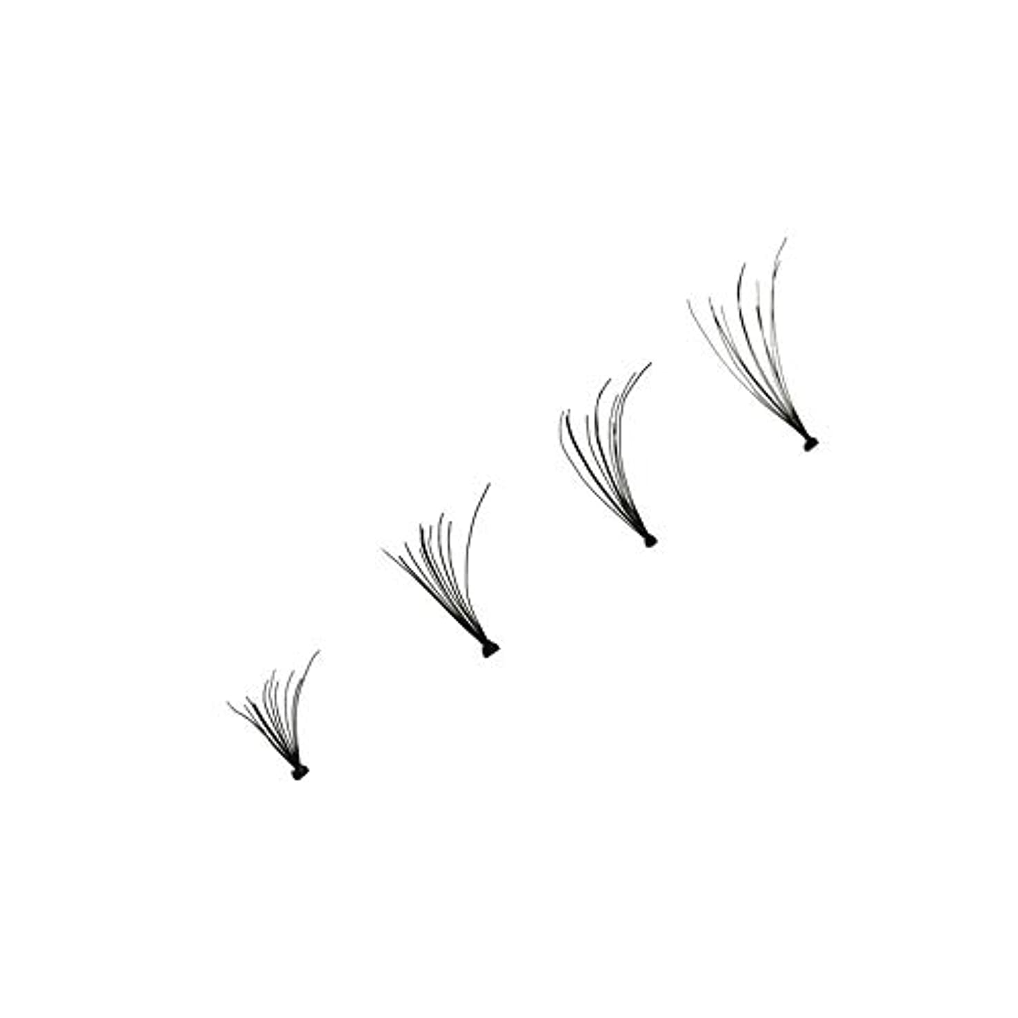 くしゃみマラドロイトバイナリ4本個別つけまつげウェーブミンク0.1 Dブラックシルクまつげエクステンション