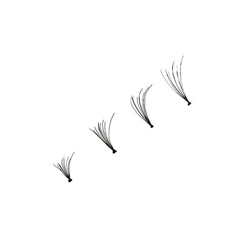 音声学カスケードメルボルン4本個別つけまつげウェーブミンク0.1 Dブラックシルクまつげエクステンション