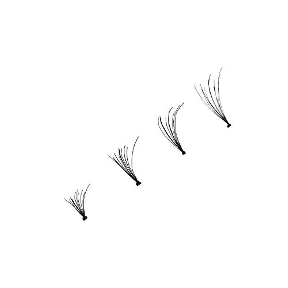 刃意図するディーラー4本個別つけまつげウェーブミンク0.1 Dブラックシルクまつげエクステンション