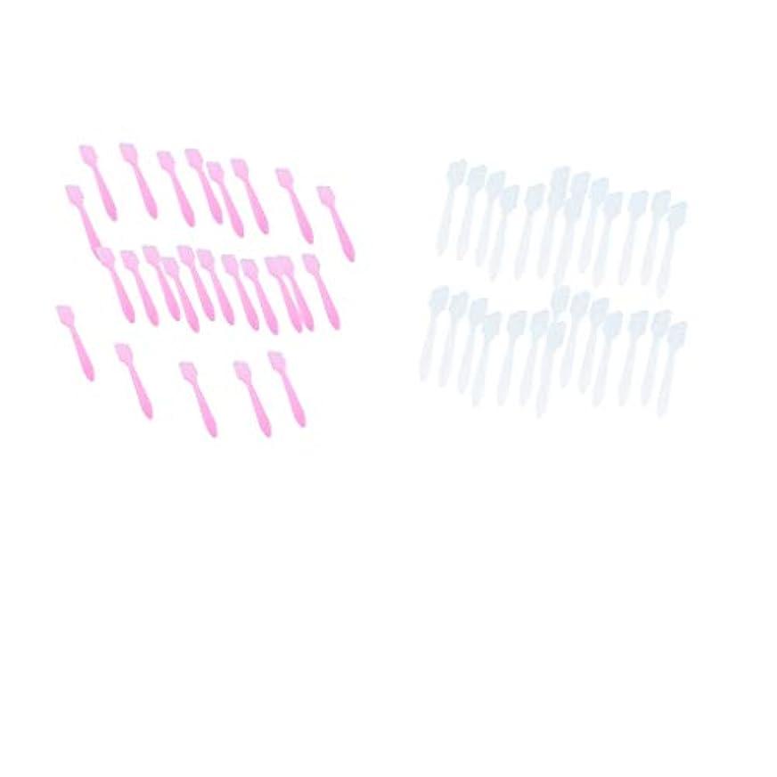 バレーボールバルク十代の若者たちP Prettyia 約200個 クリーム フェイスマスクスプーン 化粧品混合ヘラ 女性 美容ツール 全2選択 - 白+ピンク