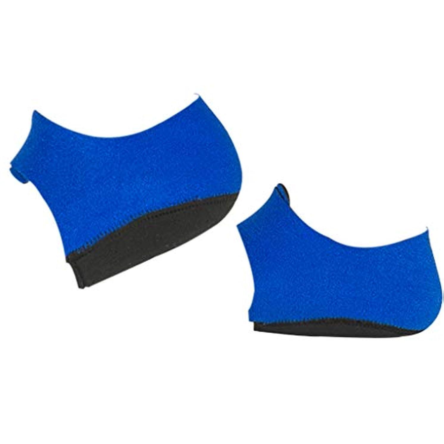 質量パノラマ転倒かかとサポーター 足底筋膜炎 シリコーン フットケア ヒールプロテクター 全2サイズ - L