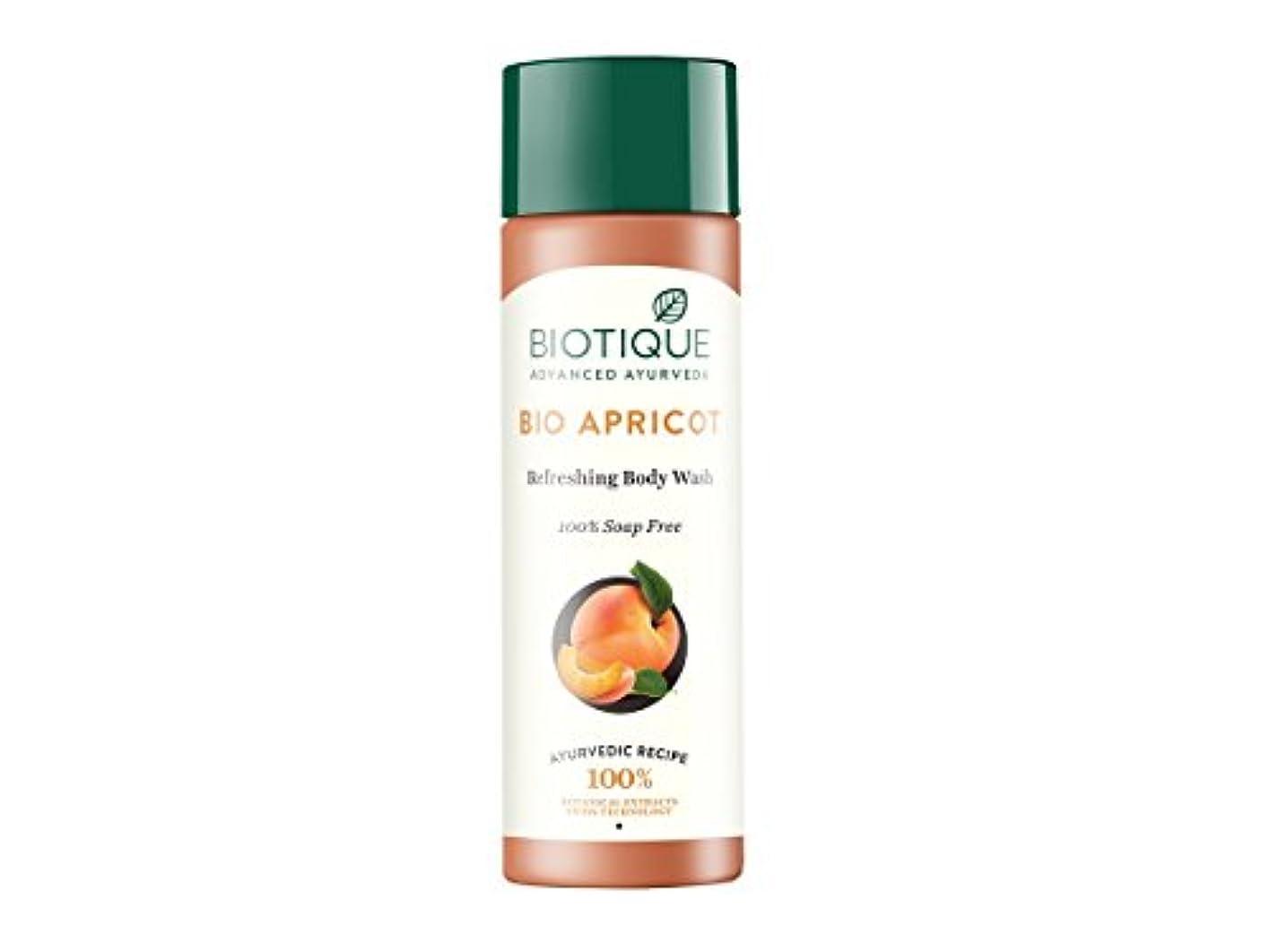 好奇心盛水曜日倍増Biotique Bio Apricot Refreshing Body Wash, 190ml