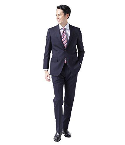 NEWYORKER(ニューヨーカー)【Super100's/2パンツスーツ】ハイカウント / オルタネイトレールストライプスーツ(2ボタン・1タック)