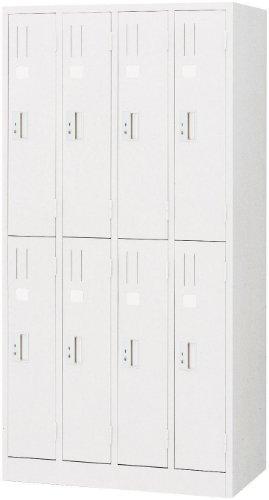 国産 ホワイトロッカー 白 8人用 スチール ロッカーML87-AW 更衣ロッカー