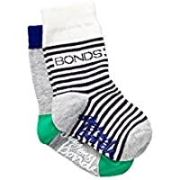 Bonds Baby Stay-on Crew Socks (2 Pack)