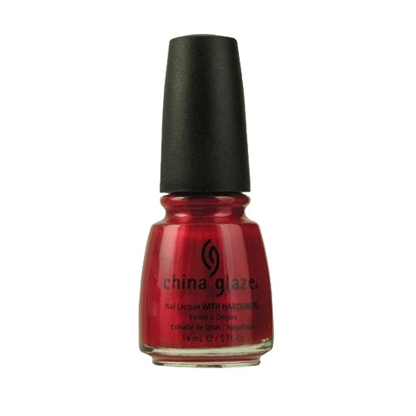 笑い関連するそっとCHINA GLAZE Nail Lacquer with Nail Hardner - Red Pearl (並行輸入品)