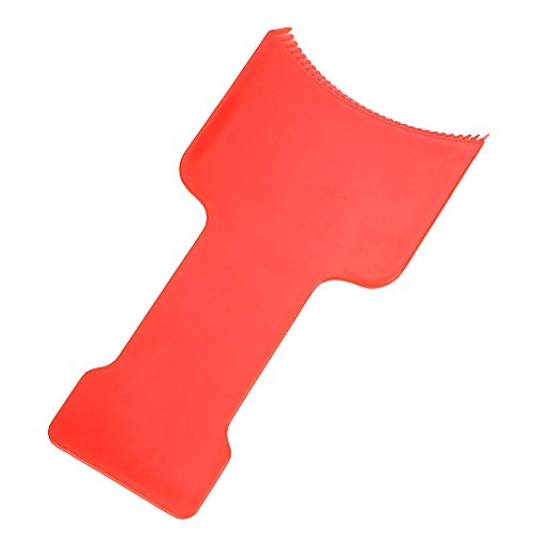 キャプテンブライ以来ランダムAMAA フラットトップパドルセットヘアハイライトセクショニング櫛セットヘアカラーパドルセット (レッド)