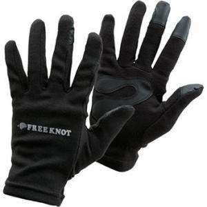 フリーノット(FREE KNOT) フィッシンググローブ レイヤーテック eタッチ M ブラック