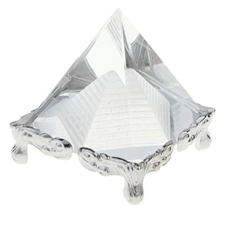 誘惑コマンド原始的なSharplace インテリア装飾 置き物 文鎮 ピラミッド クリスタル 水晶 コレクション 誕生日 プレゼント 全3色 - シルバーベース