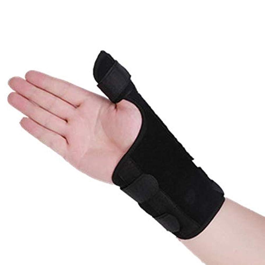 戦士記憶押す指の添え木、手根管関節炎Sprain-1pairs用通気性医療手首サポートブレース添え木 (Size : Medium)
