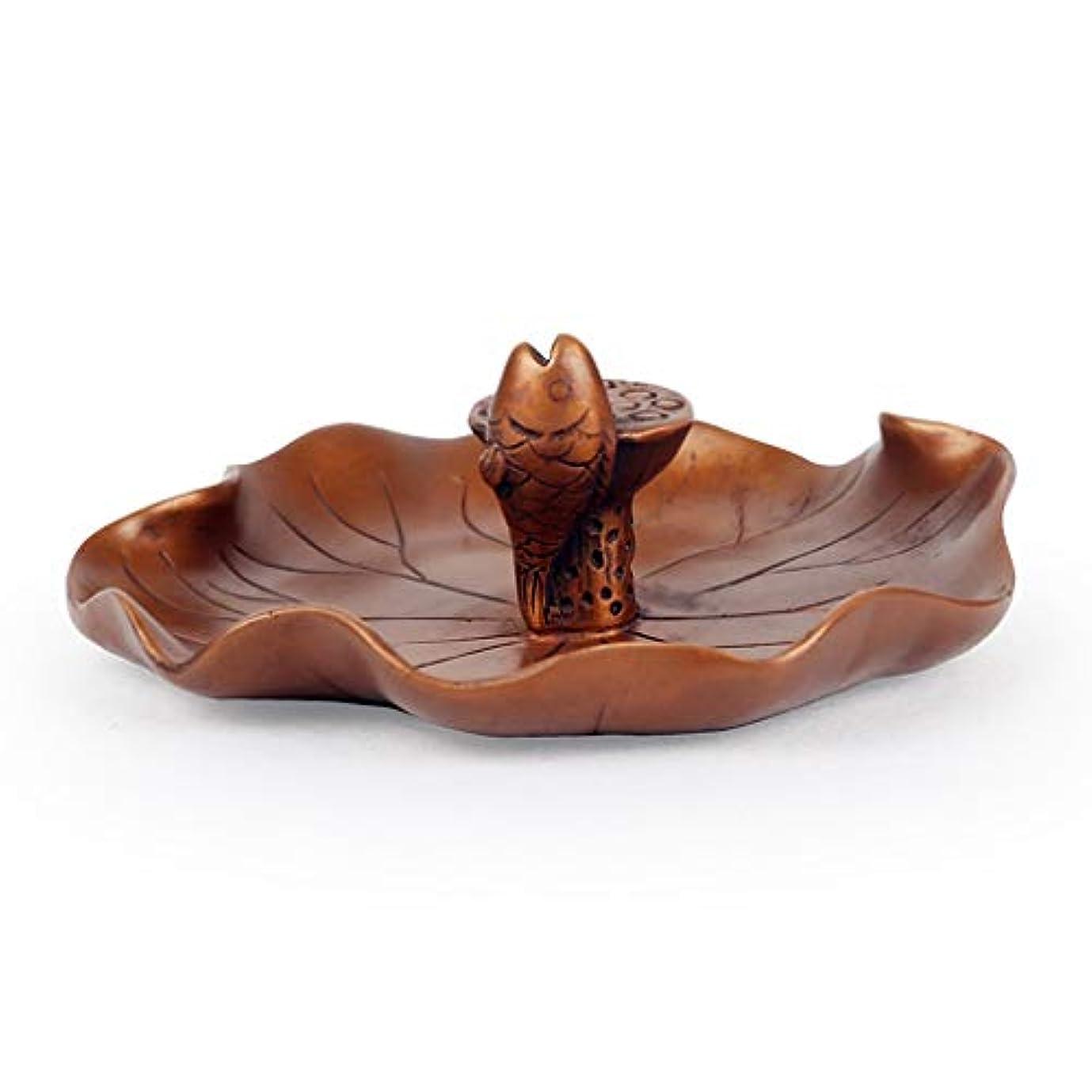 ホームアロマバーナー 還流香炉ホーム香りの良い禅禅ラッキー鑑賞新しいクリエイティブアガーウッド香バーナー装飾 アロマバーナー (Color : Brass)