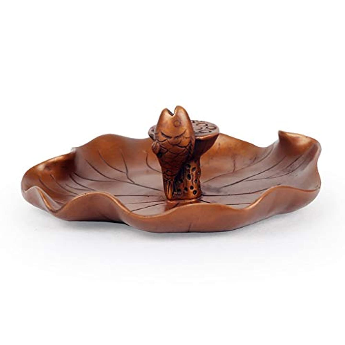 砂場所対抗ホームアロマバーナー 還流香炉ホーム香りの良い禅禅ラッキー鑑賞新しいクリエイティブアガーウッド香バーナー装飾 アロマバーナー (Color : Brass)