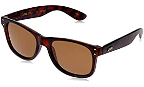 Local Supply Men's EVERYDAY Polarized Sunglasses - Dark Brown Tint Lens, Matte Tortoiseshell Frames