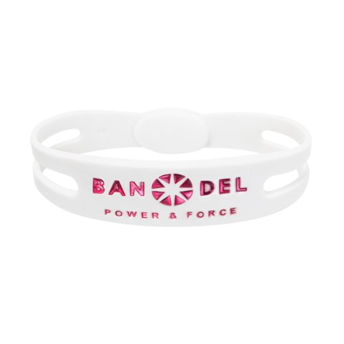 BANDEL [일본정품] [일본정품] 팔찌 메탈릭 화이트×핑크(White x Pink)-