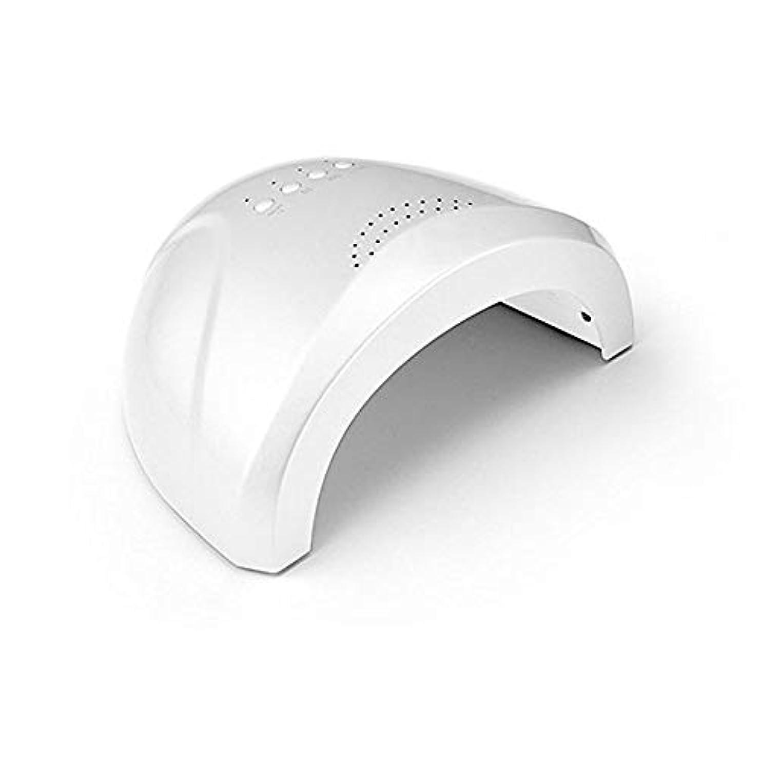 へこみ扇動買い手LED UVネイルドライヤーホワイトライトネイルランプ高速硬化3タイマー設定5 s / 30 s / 60 s爪&足の爪のネイルアートサロンツールの自動センサーマシン