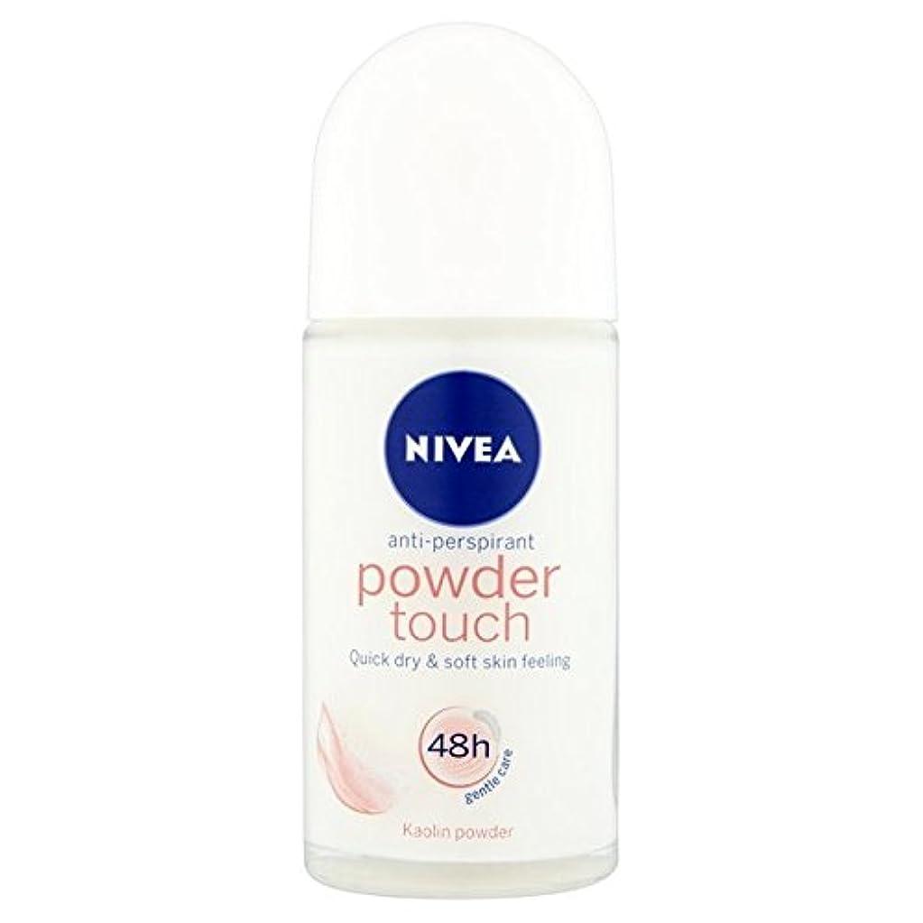 被る命題パッケージNivea Powder Touch 48hr Roll On Anti-Perspirant Deodorant 50ml - 制汗デオドラント50ミリリットルのニベアパウダータッチ48時間ロール [並行輸入品]