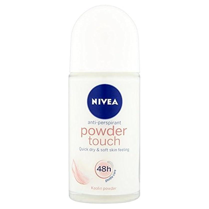 引く実行可能キロメートルNivea Powder Touch 48hr Roll On Anti-Perspirant Deodorant 50ml - 制汗デオドラント50ミリリットルのニベアパウダータッチ48時間ロール [並行輸入品]