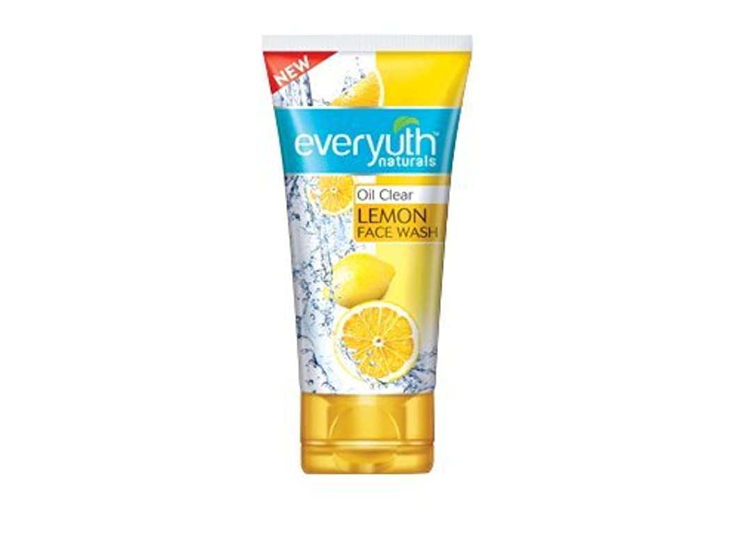堤防航空便希望に満ちたEveryuth Naturals Oil Clear Lemon Face Wash 50Gm (1 Pack)