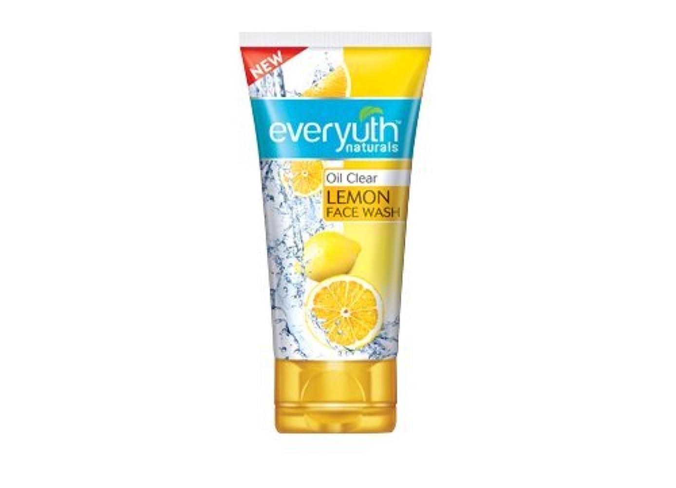 半円失業者ショルダーEveryuth Naturals Oil Clear Lemon Face Wash 50Gm (1 Pack)